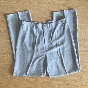 Vintage Grey Silky Pants Trousers Straight Leg 29
